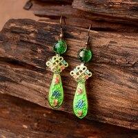 earrings character joker contracted pendant earrings female temperament enamel cloisonne eardrop restoring ancient ways