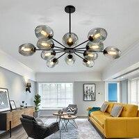 Nordic освещения Magic Bean Потолочные светильники постмодерн личности в форме гостиная лампа творческих кованого железа ресторан