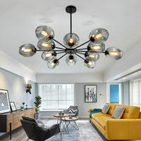 Nordic lighting magic bean Ceiling Lights postmodern personality shaped living room lamp simple creative wrought iron restaurant
