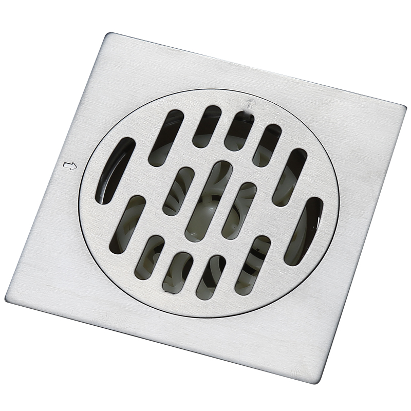 blh 552 quality stainless steel square shower drain floor drain brushed nickel grate drain hair 10