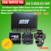 2018 Newest Original EMMC Booster Tool with EMMC Socket device support EMMC BOX Easy jtag plus UFI box AFT box Medusa pro box