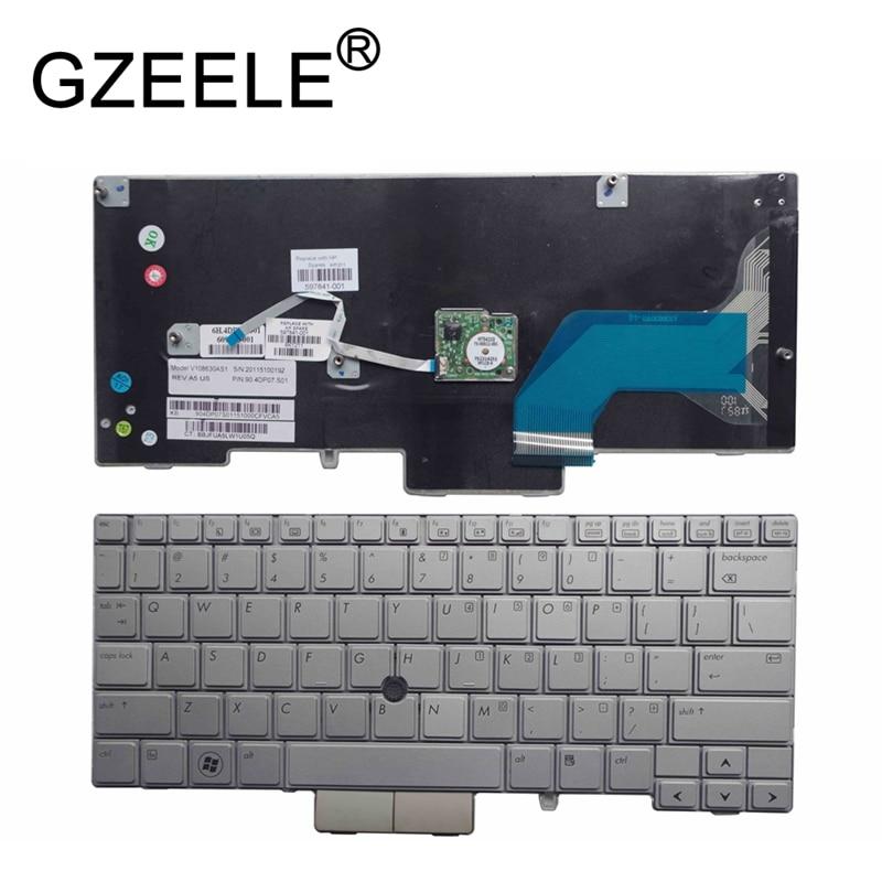 GZEELE new FOR HP Elitebook 2760P 12 1 laptop font b keyboard b font silver MP