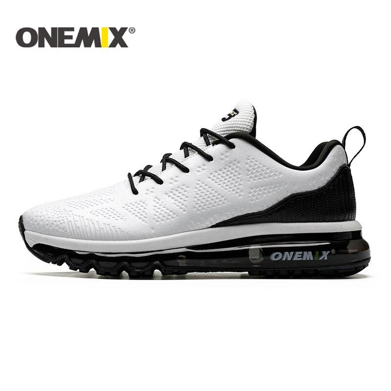 ONEMIX 2019 nouveaux hommes chaussures de course en cuir coureur athlétique baskets Air coussin chaussures de course pour hommes chaussures de marche en plein Air hommes - 4