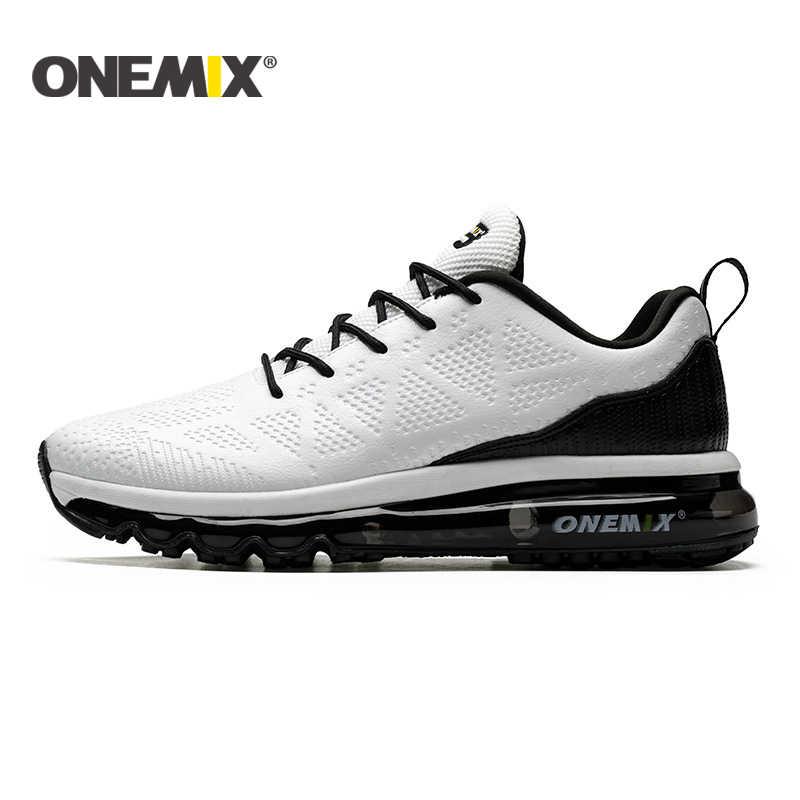 ONEMIX جديد الرجال احذية الجري عداء الجلود رياضية أحذية رياضية الرجال وسادة هوائية احذية الجري الرجال في الهواء الطلق أحذية مشي النساء