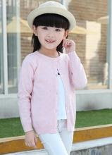 2016 autumn children's clothes solid long sleeve hollowed baby girls cardigan knitted sweaters for girls kids thin sweater