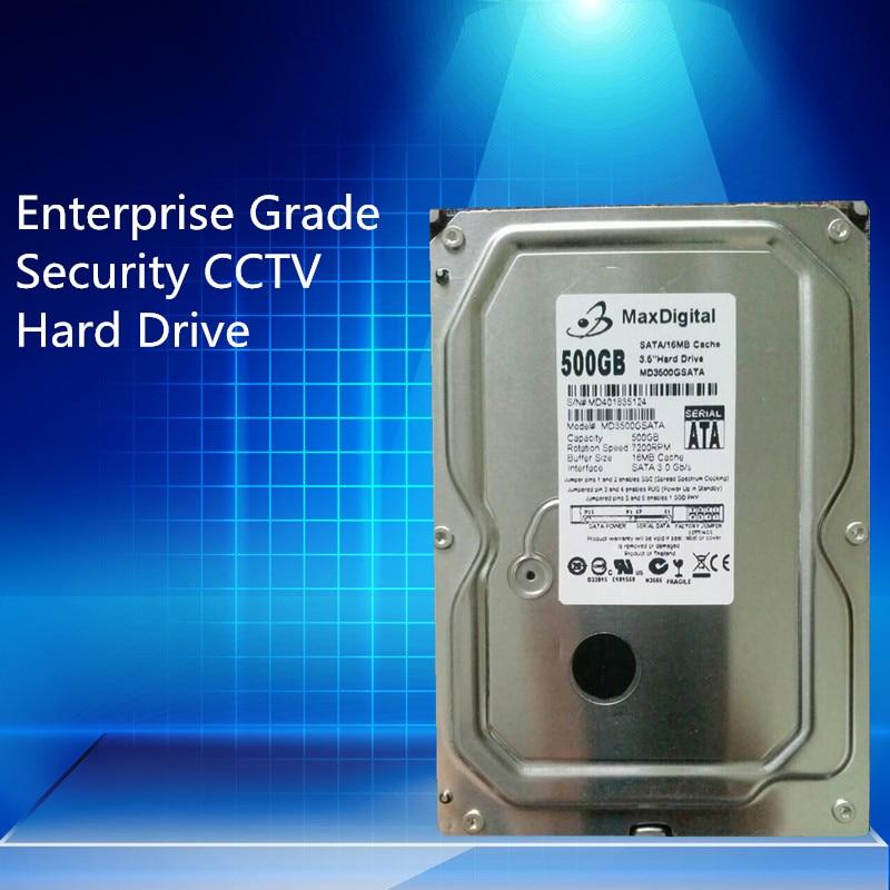 500GB HDD SATA 3.5inch  MaxDigital/MD500GB SATA 3.5 Enterprise Grade Security CCTV Hard Drive Warranty for 1-year hot sale new and retail package 500gb 7 2k 3 5inch sata hdd 39m4514 new 1 year warranty