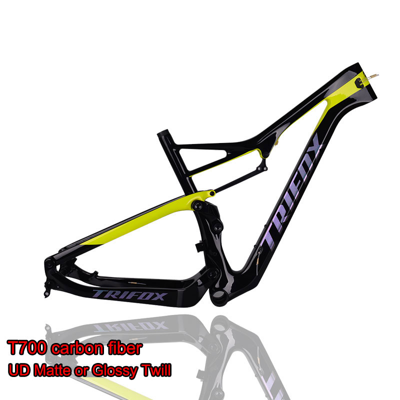 TRIFOX Carbon Mountain Bike Frame 29er Carbon Suspension MTB Bicycle Frame T700 UD Matte Carbon Frame
