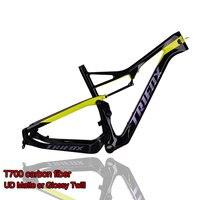 TRIFOX Carbon Mountain Bike Frame 29er Carbon Suspension MTB Bicycle Frame T700 UD Matte Carbon Frame