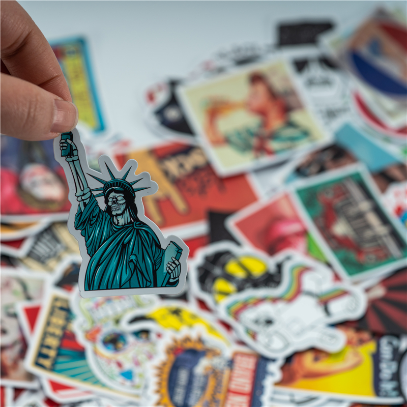 100 Pcs No Duplicate Waterproof Logo Sticker For Wall Decor Skateboard Motorcycle Refrigerator Laptop Toy Sticker To Ensure A Like-New Appearance Indefinably