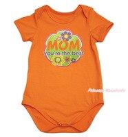 Moederdag mom je bent de beste oranje een stuk baby meisjes bodysuit NB-18Month MAJPA0052