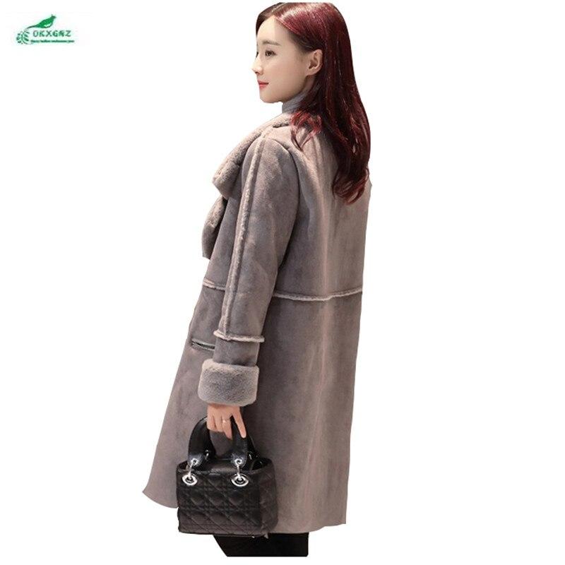 Manteaux Gray Color Femmes En Femme Manteau Peluche Gamme Cachemire Coréen De Okxgnz Épaississement Longue Ample Nouveau lotus Qq997 Hiver Chaud Haut 4R1UqP4