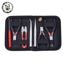 pandahall Jewelry Making Kit Tools Set with Plies and Scissor Beading Tool Kit  for Jewelry Making DIY Tools Package Beaders