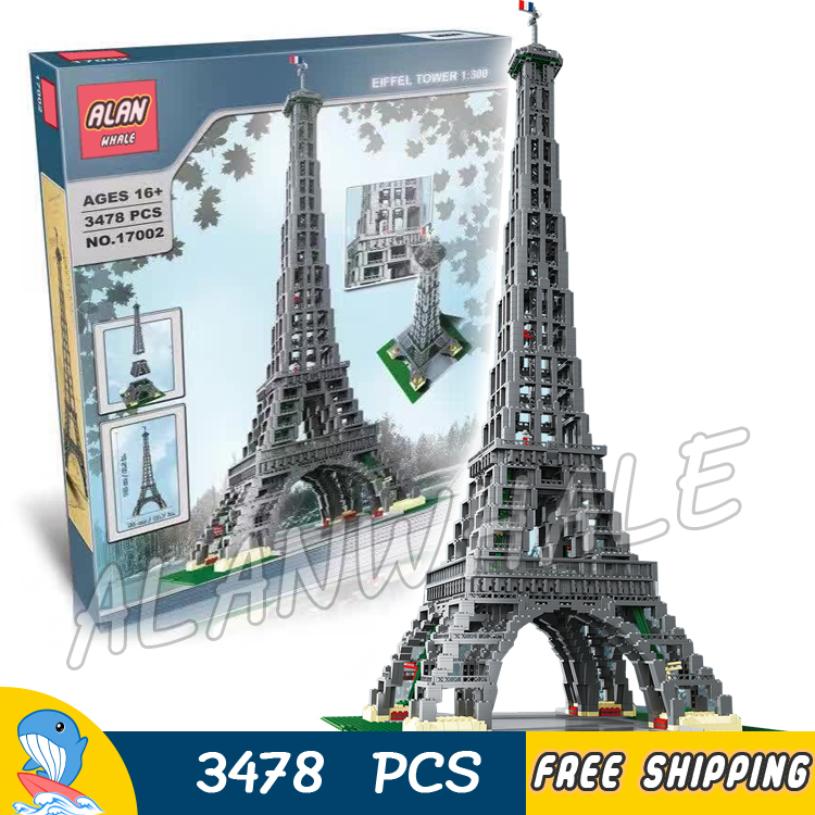 3478pcs Architecture Make & Create Eiffel Tower 1:300 Scale Model Building Blocks 17002 Assemble Toy Bricks Compatible With Lego