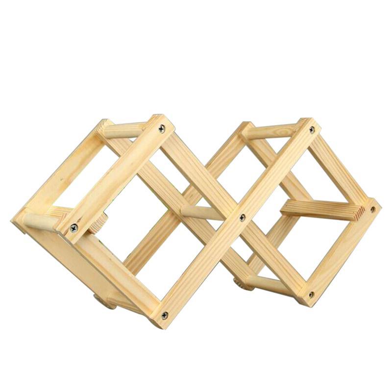 foldable wooden tabletop wine rack holder bottle server wood folding wine racks foldable wooden wine bottle