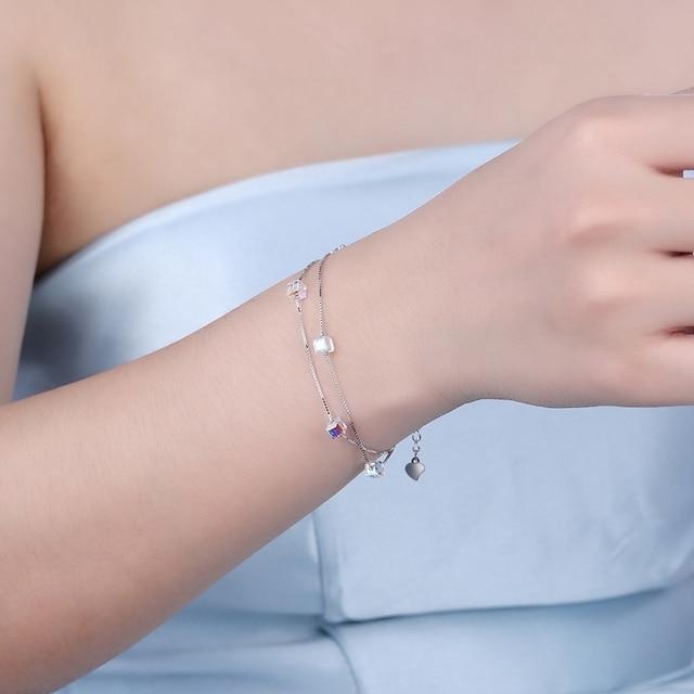 Купить модные кубические циркониевые хрустальные браслеты для женщин картинки