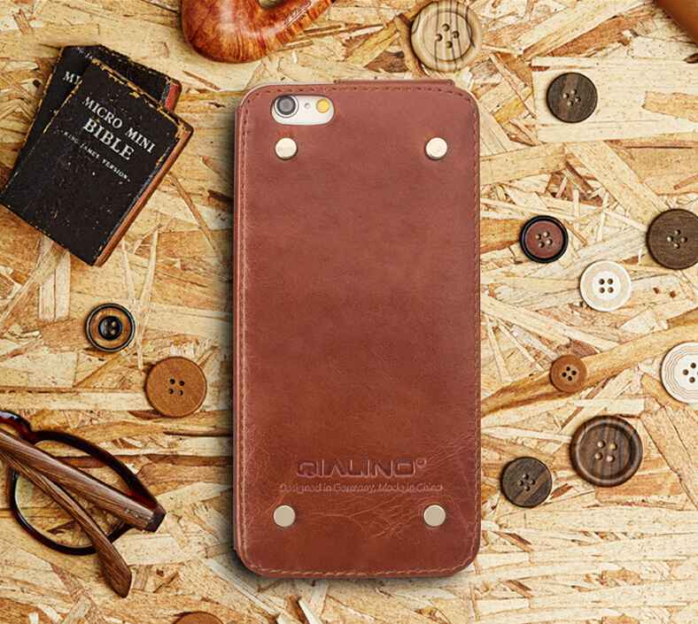 For Iphone 6 6s Case Qialino Genuine Leather Luxury Business Case