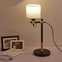 NEW Simple modern creative office desk lamp decorative lamp bedroom bedside lamp new Nordic Korean wood MZ18