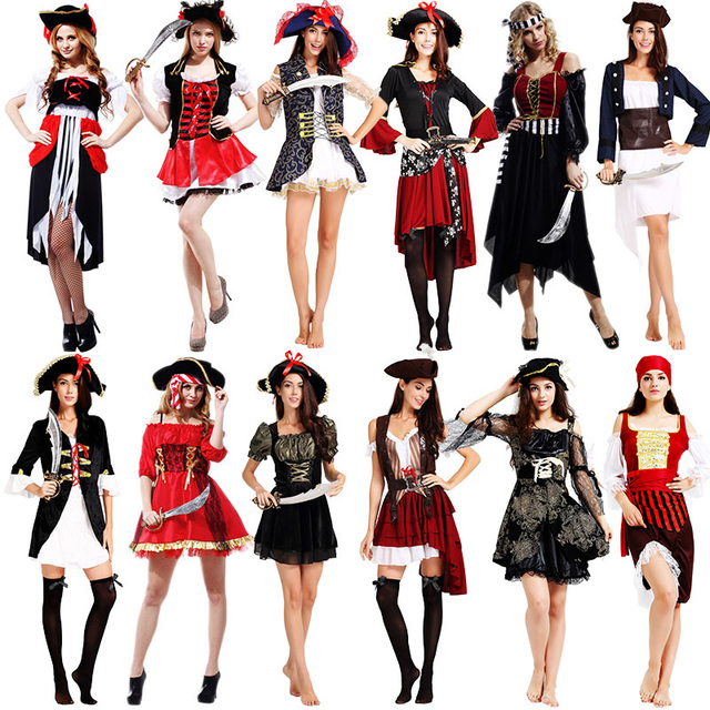 e46007fa7d7 Chica Sexy mujer cosplay fiesta Caribe español pirata disfraz vestido  sombrero adulto cosplay halloween Disfraces ropa