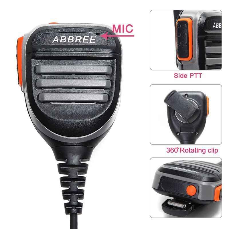 Abbree AR-780 Ptt Regendicht Schouder Speaker Microfoon Voor Kenwood Tyt Baofeng Twee Manier Radio UV-5R BF-888S UV-82 Walkie Talkie