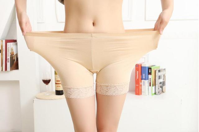 c08152b3b24 Summer Style Ladies Boxer Short Safe Pants Bamboo boyshort underpants with  Lace Plus Sizes ladies