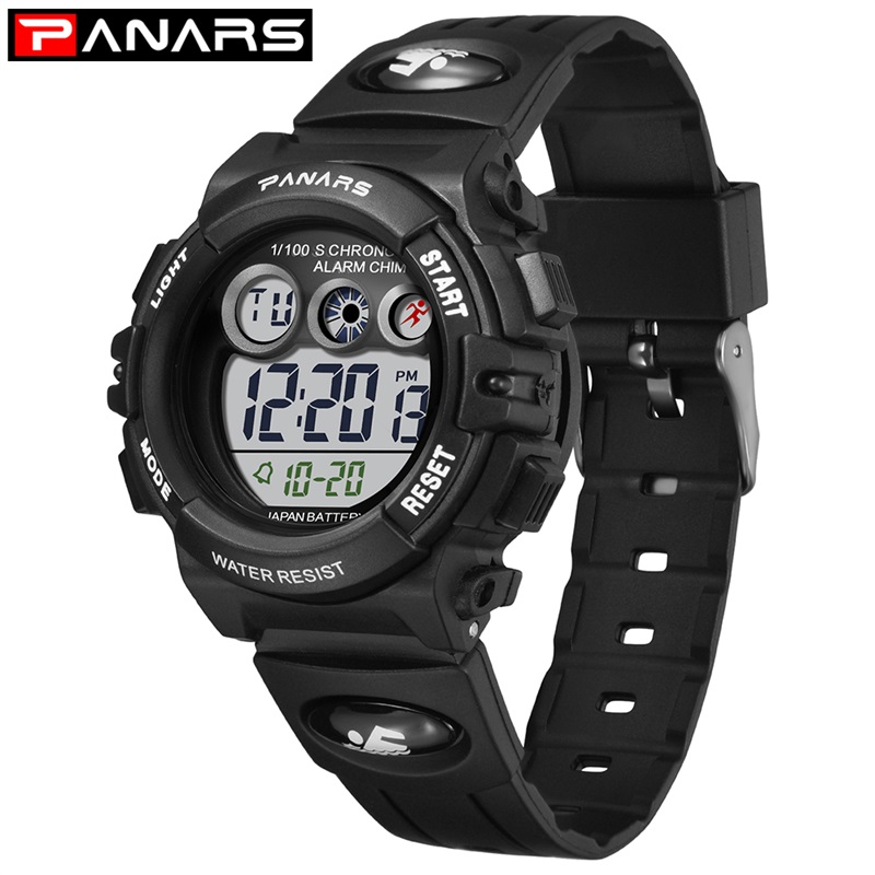 PANARS Fashion New Arrival Kid's Watches Colorful LED Back Light Digital Electronic Watch Waterproof Swimming Girl Watches 8210