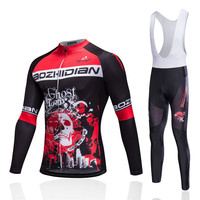 2017 New Maillot Cycling Clothing Skull MTB Bicycle Wear Ropa Ciclismo Race Cycling Clothes Set Bike