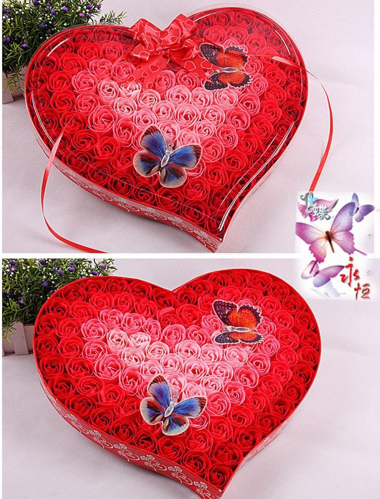 100kpl hajustettua paperia ruusukukkakylpysaippua, jossa on 2 - Tavarat lomien ja puolueiden - Valokuva 5