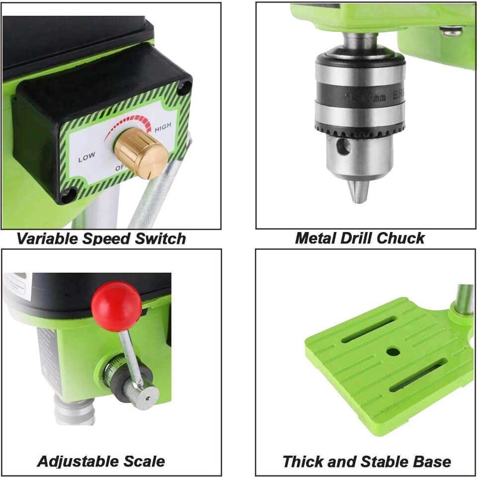 Daedalus CNC wiertarka 220V 480W BG-5159A wiertarka stołowa mała wiertarka elektryczna stół warsztatowy narzędzie do majsterkowania do drewna