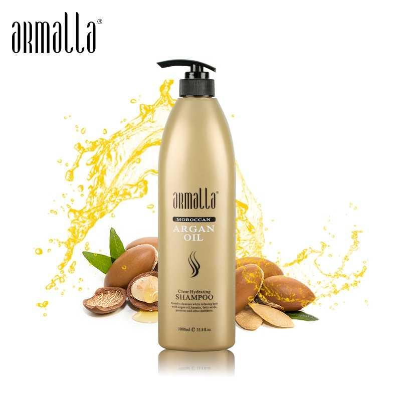 Armalla profesyonel 1000ml fas argan yağı şampuan saç bakımı saç parlaklık pürüzsüzleştirici nemlendirici ücretsiz kargo
