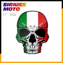 3D Мотоцикл Череп на бак наклейка s Италия флаг наклейка на шлем наклейки чехол для Aprilia KTM Ducati Yamaha AVG Акула Vespa наклейки