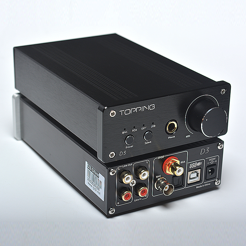 Topping D3 Headphone Amplifier 24Bit/192kHz USB Optical Coaxial BNC DAC Headphone AMP topping vx2 2ch pure digital amplifier hifi audio stereo amplifier usb dac 24bit 192khz support usb coaxial optical fiber 2 40w