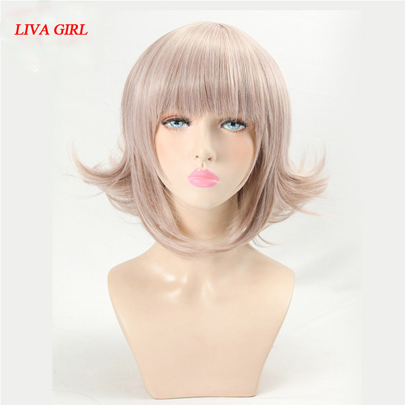 LIVA GIRL Super DanganRonpa Cosplay Wig Chiaki Nanami Costume Play Woman Adult Wigs Halloween Anime Game Hair free shipping