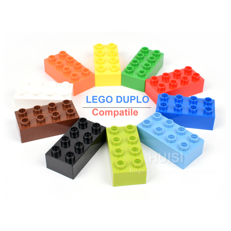 Creative Toys Plastic DIY Model Building Blocks Bricks Parts Large 2x4 Baby Kids Education Learning Toys For 5 Year Olds 50pcs