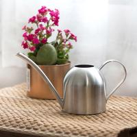 Aço inoxidável pote de rega jardinagem vaso pequeno purling pode interior suculento longo rega chaleira do jardim fontes
