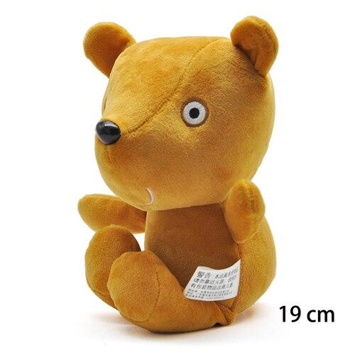 19 см оригинальная Свинка Пеппа Джордж Животные Мягкие плюшевые игрушки мультфильм семья папа мама друг Pelucia мягкие куклы игрушки детские подарки - Цвет: Teddy bear