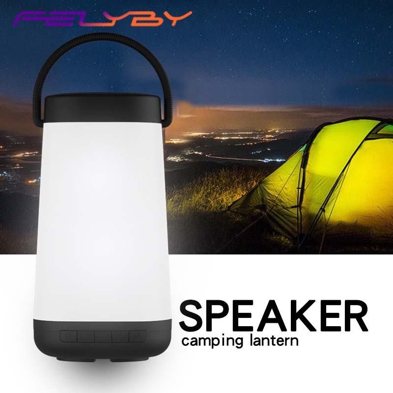 FELYBY New Bluetooth Speaker with Color Led Light Home Portable Speaker Wireless Bluetooth Speaker Music