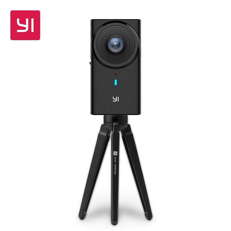 YI 360 VR Камера Dual-объектив 5,7 К HI Разрешение панорамный Камера с электронная стабилизация изображения 4 К в -Камера шить
