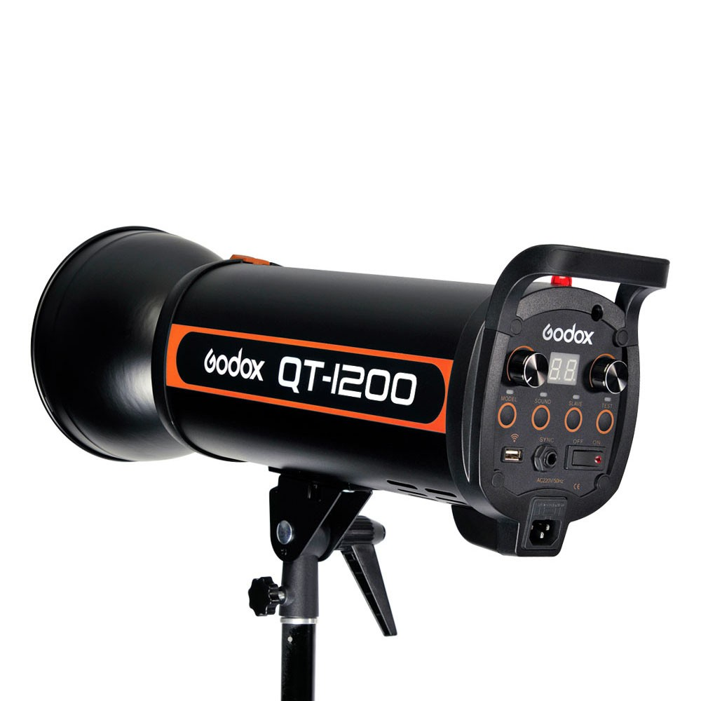Godox QT-1200 1200W Strobe Head 1/5000s AC100-120V/60Hz Fast Duration Flash Lighting LED Light Annular Lamp Studio Video Light