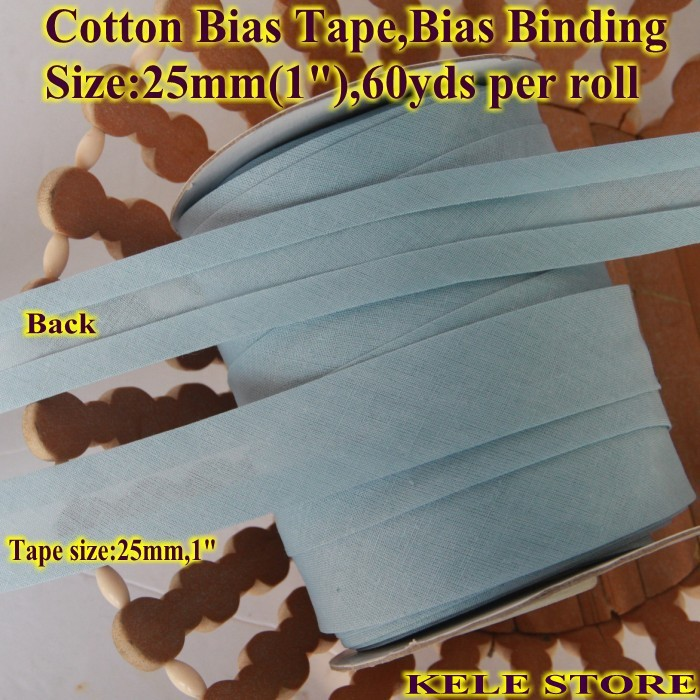 2m x 25mm Plain Black Bias Binding tape also ideal for Crafting and Dressmaking.
