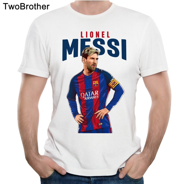 bde63f257b0 Lionel Messi Barcelona T Shirt Man Crazy Fans Barca Club T Shirt 3d Print  Homme Tee Shirt Casual Camiseta Plus Size
