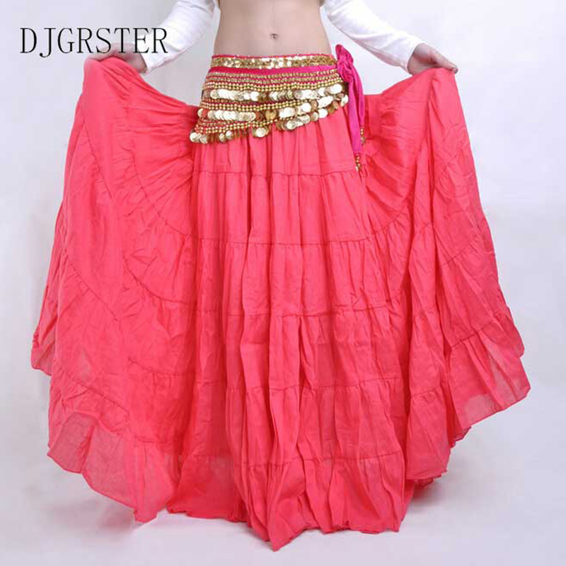Picture of  DJGRSTER High Quality Women Belly Dancing Skirts Cheap Belly Dancing Costume Gypsy Skirts 13 Colors Available Training Dress