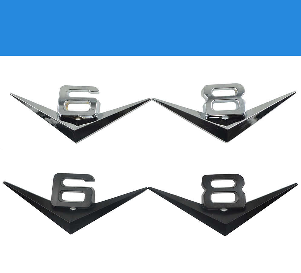 2017 v6 v8ロゴデカールstylings車のテールステッカー装飾用zastava 10フロリダskala yugo/サイオンfr-s ia im iq tc xa xd