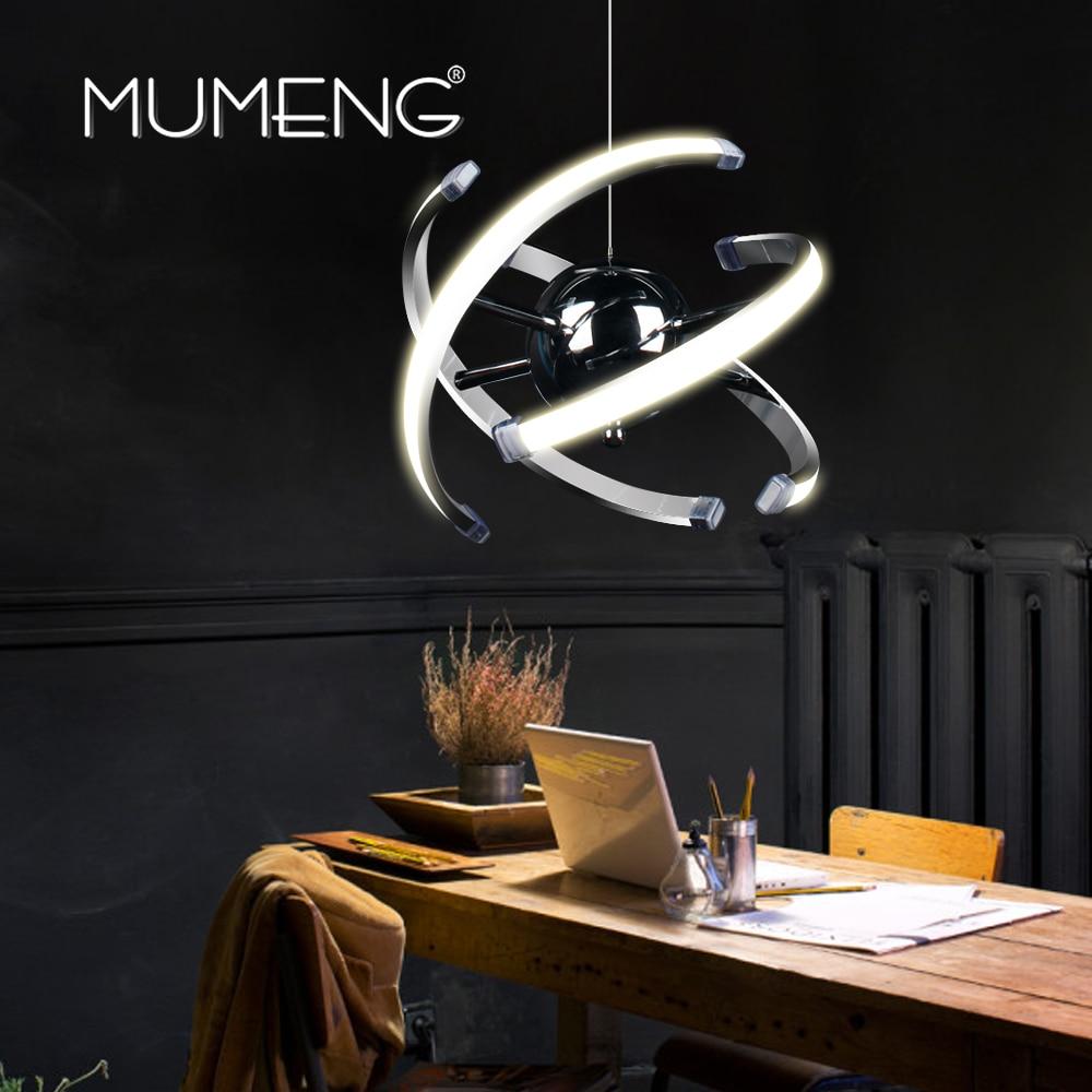 Mumeng led bola pingente luz 23 w moderna lâmpada de cozinha acrílica 85-265 v sala de jantar pendurado iluminação ajustável estilo luxture