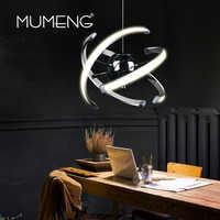 Mumeng LED bola colgante luz 23W moderno acrílico cocina lámpara 85-265V comedor colgante iluminación ajustable estilo Luxture