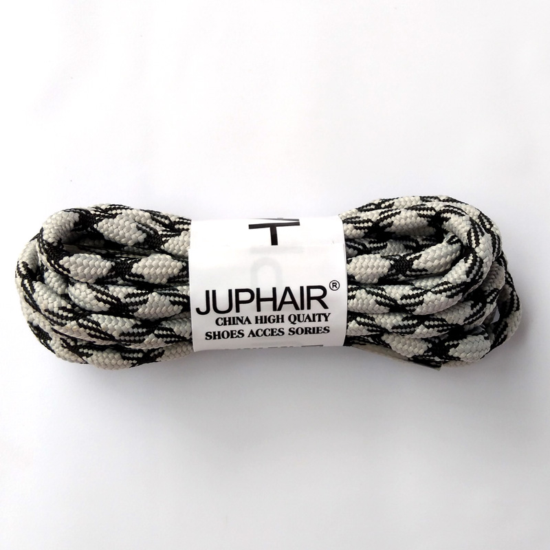 New 1-50 Pairs Black Gray Round Laces Gray Purple Non-slip Outdoor Sport Hiking Sneaker Shoelace Skate Boot Bootlace String Rope