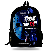 High Quality Jason Vorhees Friday the 13th Mask Backpack Sch