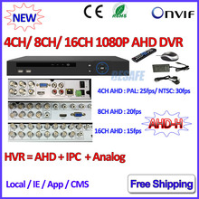 4 8 16 Канала NVR P2P 1080 P AHDVR 4 канальный Сетевой 8-КАНАЛЬНЫЙ ВИДЕОРЕГИСТРАТОР ONVIF 2.4 КАНАЛОВ NVR рекордер для AHD-H AHD-М 960 H D1 3-МЕГАПИКСЕЛЬНАЯ Ip-камера
