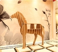 """39.4"""" Wooden Horse Home Decor Shelf Bookcase Coffee Table DIY Self-build Living room Puzzle Furniture FREE SHIPPING"""