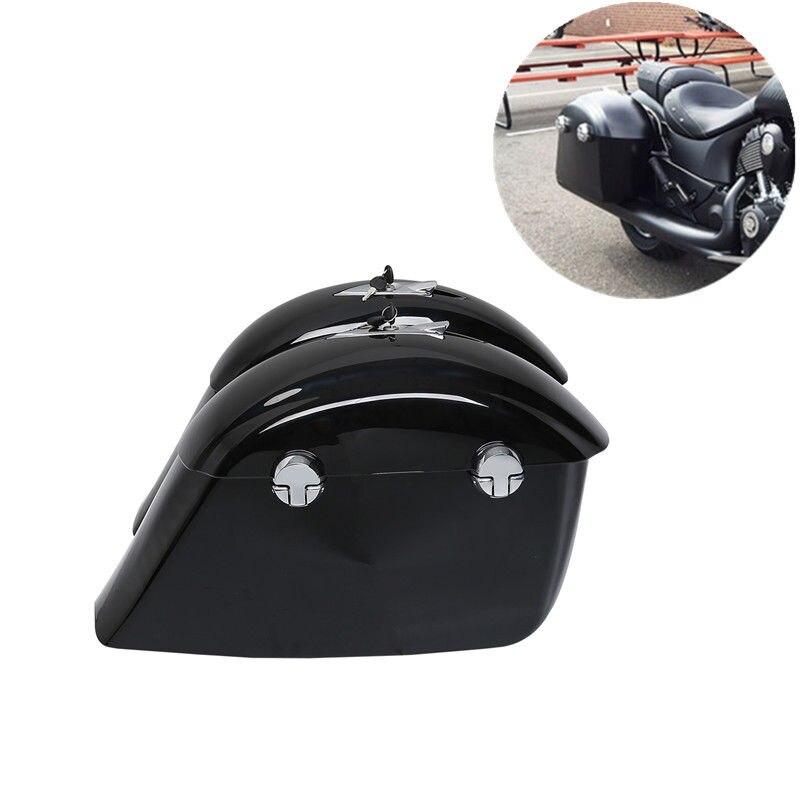 Coffre de sac de selle peint de moto avec clé de verrouillage électronique pour le chef indien Dark Horse Roadmaster Springfield