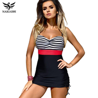 NAKIAEOI Plus Size Swimwear One Piece Swimsuit 2017 Retro Swimming Suit For Women Bathing Suit Beach